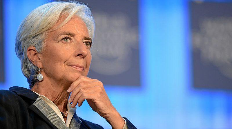 Christine Lagarde représentant la loi Lagarde