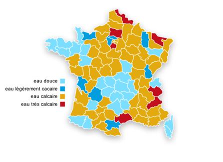 La carte de France des adoucisseurs d'eau