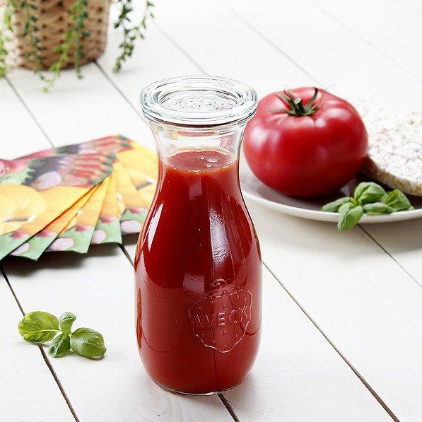 Utilisation d'un bocal long Weck pour un jus de fruits rouges