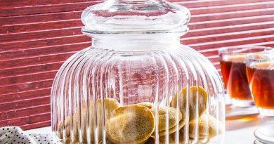Grand bocal en verre pour biscuits secs